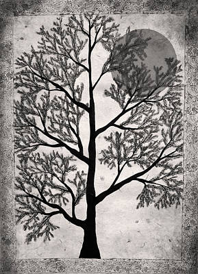Sepia Tree Poster