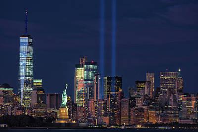 September 11tribute In Light Poster