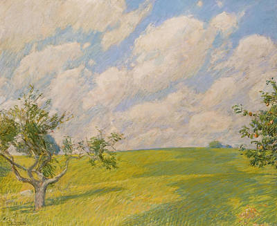 September Clouds Poster by Childe Hassam