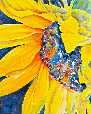 September Sunflower Poster by Carolyn Rosenberger