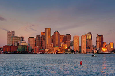 September Sunrise Over Boston, Boston, Massachusetts Poster