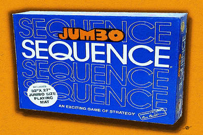 Sequence Board Game Painting Poster by Tony Rubino