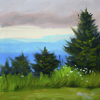 Poster featuring the painting Sequim Vista by Nancy Merkle