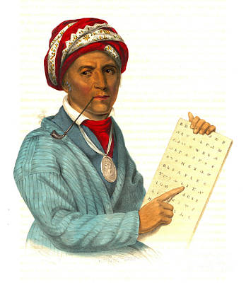 Poster featuring the photograph Sequoyah 1838 by Padre Art