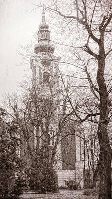 Serbian Orthodox Cathedral Poster by Joan Carroll