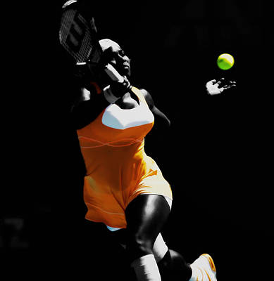 Serena Williams Putting It In Poster