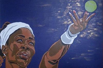 Poster featuring the painting Serena Williams by Rachel Natalie Rawlins