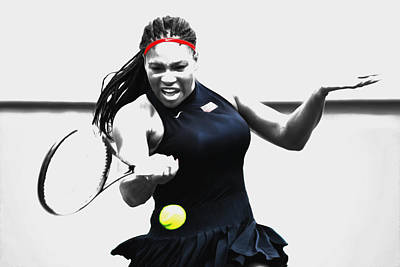 Serena Williams Stay Focused Poster