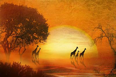 Serenade Of The Serengeti Poster by Trudi Simmonds