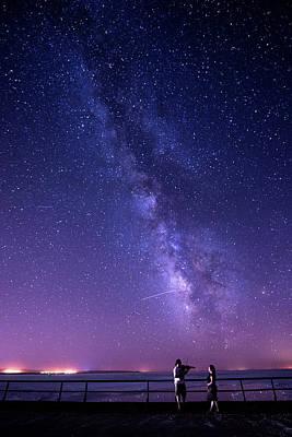 Serenade Under Milky Way Poster by Okan YILMAZ