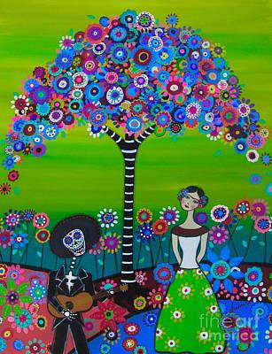 Serenata Mi Senora Frida Poster by Pristine Cartera Turkus