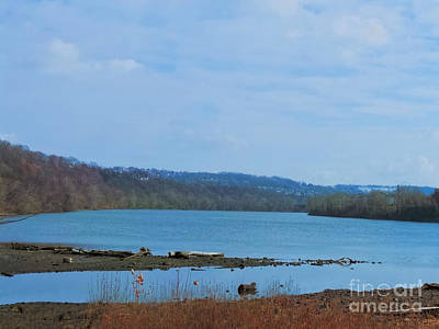 Serene River Landscape Poster