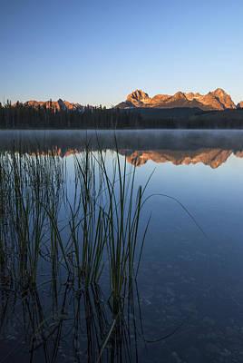 Serenity At Little Redfish Lake Stanley Idaho Poster by Vishwanath Bhat