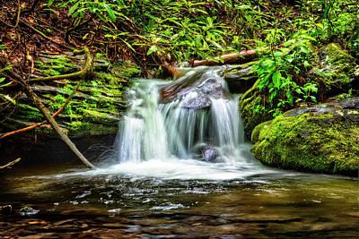 Serenity Falls Poster by Debra and Dave Vanderlaan
