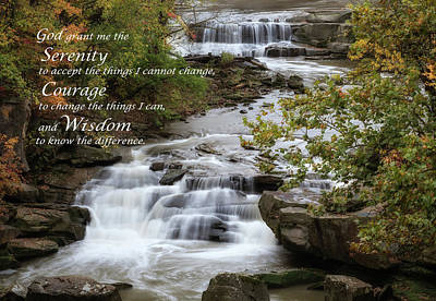 Poster featuring the photograph Serenity Prayer by Dale Kincaid
