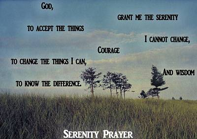 Serenity Prayer Field Poster by Dan Sproul