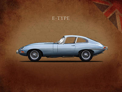 Series 1 E Type Poster by Mark Rogan