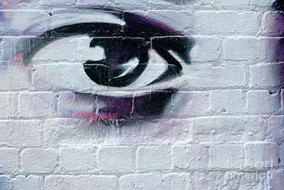 Poster featuring the painting Serious Graffiti Eye On The Wall by Yurix Sardinelly