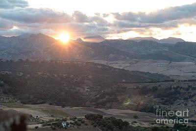 Serrania De Ronda Sunset Poster by Rod Jones