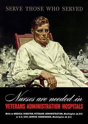 Serve Those Who Served - Va Hospitals Poster