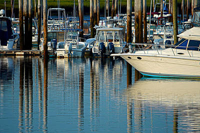 Sesuit Harbor Serenity Poster by Dianne Cowen