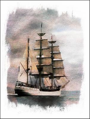 Poster featuring the painting Set Sail by Aaron Berg