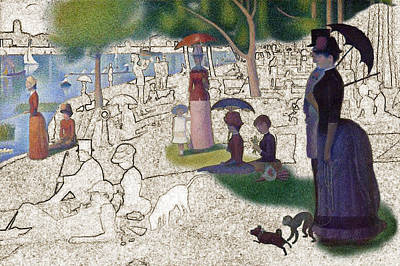 Seurat Sunday Afternoon Poster by Karla Beatty