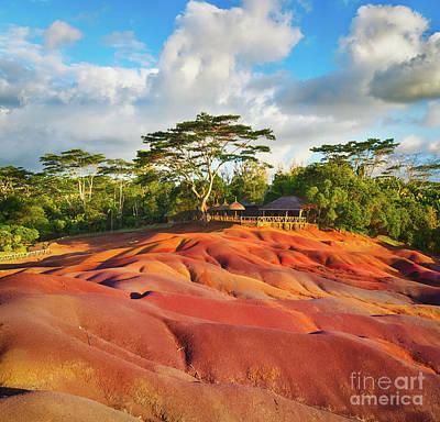 Seven Colour Earth. Mauritius.  Poster by MotHaiBaPhoto Prints