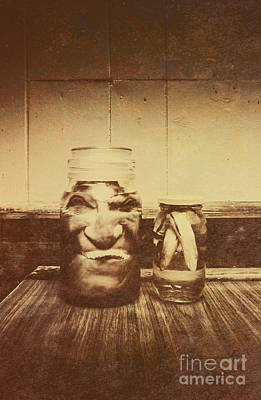 Severed And Preserved Head And Hand In Jars Poster