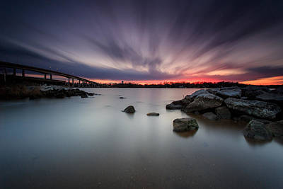 Poster featuring the photograph Severn River Dusk by Jennifer Casey
