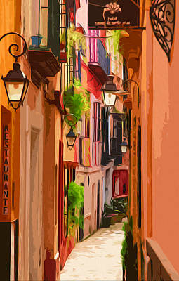 Seville, Colorful Spain Poster