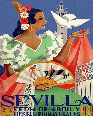 Seville, Spain Travel Poster Poster by Long Shot