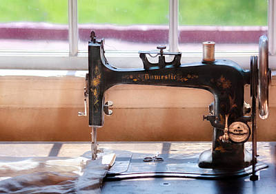 Sewing Machine - A Stitch In Time Poster by Mike Savad