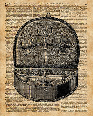 Sewing Tools Dictionary Art Poster by Jacob Kuch