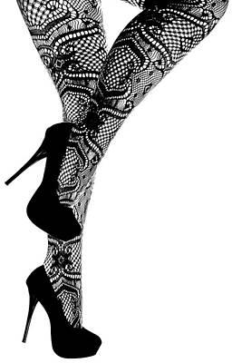 Sexy Legs In Stilettos Poster