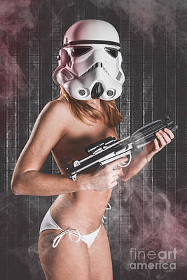 Sexy Red Head Trooper Poster
