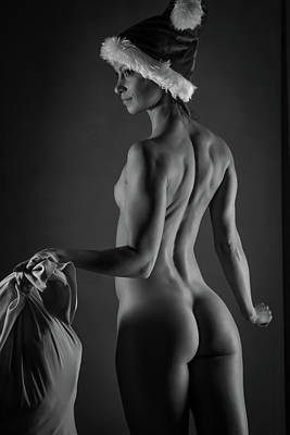 Sexy Santa Poster by Blue Muse Fine Art
