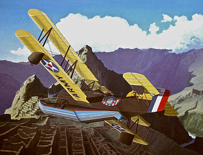 Sf Loening Over Peru Poster by Wes Harrison