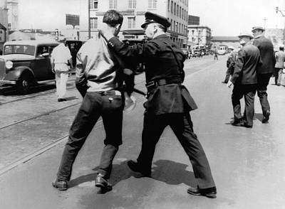 Sf Striker Arrested Poster by Underwood Archives