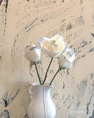 Shabbi Chic Roses Poster by Marsha Heiken