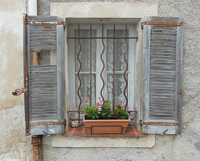 Shabby Elegant Window Poster by Marilyn Dunlap