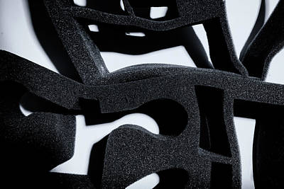 Poster featuring the photograph Shadow Of Foam Abstract One by John Williams