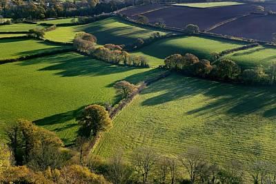 Shadows Across Fields, Devon, Uk Poster by Dr Keith Wheeler