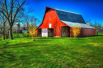 Shadows On The Barn Tennessee Farm Art Poster by Reid Callaway
