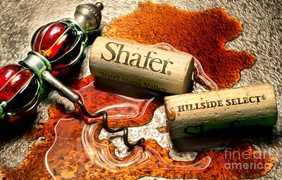 Shafer Hillside Select Uncorked Poster by Jon Neidert