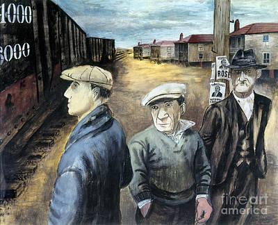 Shahn: Three Men Poster by Granger