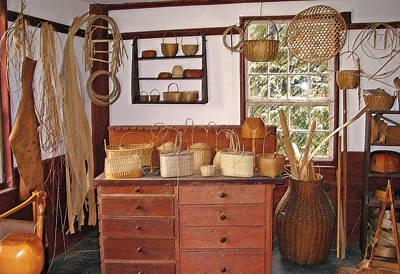 Shaker Basket Weaving Shop Poster