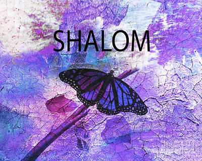 Shalom Poster by Beverly Guilliams