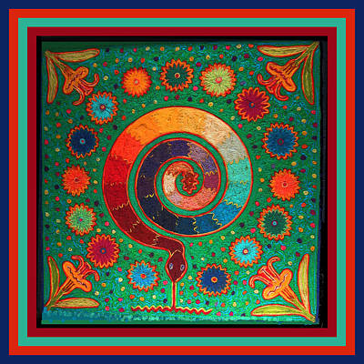 Shaman Serpent Ritual Poster by Vagabond Folk Art - Virginia Vivier