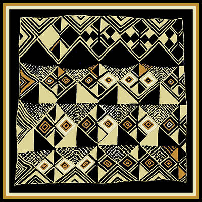 Poster featuring the digital art Shaman Tribal Kuba by Vagabond Folk Art - Virginia Vivier